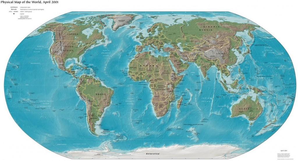 Eurozentrierte Weltkarte, (CIA, public domain)