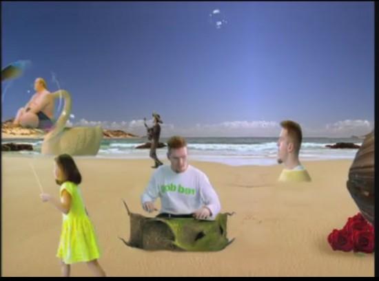"""Ausschnitt aus dem Musikvideo zu """"Tag am Meer"""" von den Fantastischen Vier"""