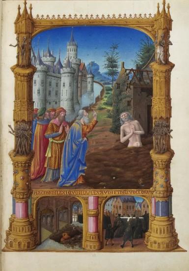 Placebo domino in regione vivorum – Ich werde dem Herrn gefallen im Lande der Lebenden. Aus Très Riches Heures (Wikimedia Commons)