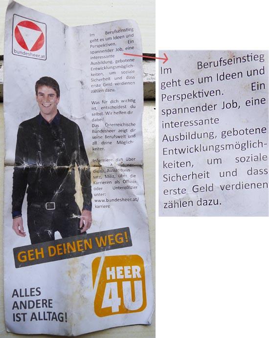 Rekrutierungsbroschüre des ÖBH (2013)