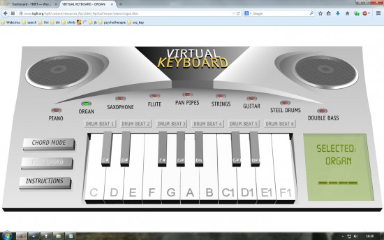 Screenshot des Virtual Keyboard (bgfl.org)