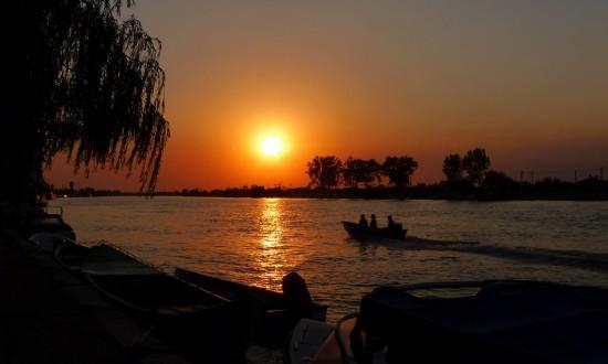 Solina bei Sonnenuntergang
