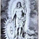 Darstellung des nordischen Gotts Balder (Jacques Reich/1900 via wikimedia commons)