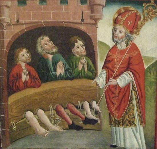 Darstellung des heiligen Nikolaus von Myra aus dem 15. Jh. (wikimedia commons)
