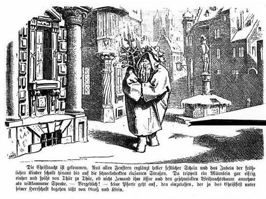 """Moritz von Schwinds """"Herr Winter"""", gedruckt 1841 im """"Münchner Bilderbogen"""""""