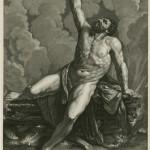 Herkules verbrennt sich selbst am Scheiterhaufen (Gilles Rousselet/17. Jh. via wikimedia commons)