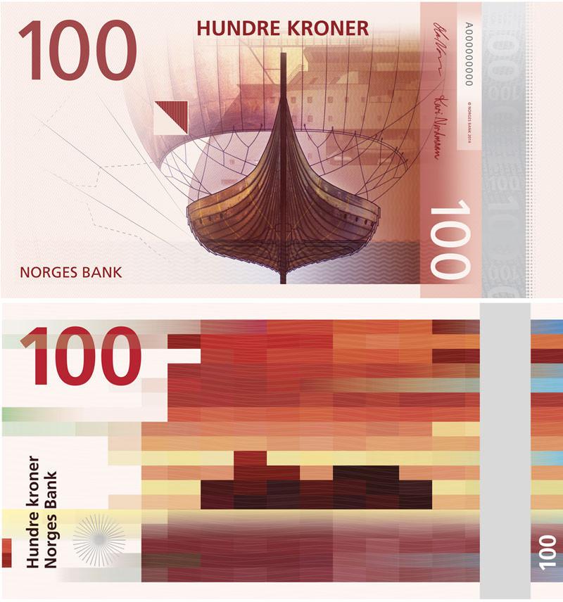 Hundre Kroner (via norges-bank.no)