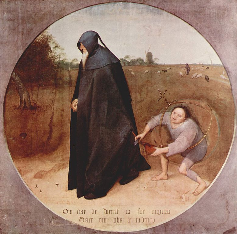 Pieter Bruegel der Ältere: Der Misanthrop (1568) via wikimedia commons