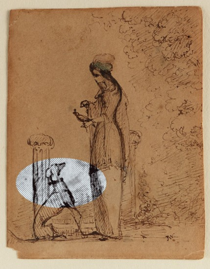 A Woman with a Dog and Bird / James McNeill Whistler (Courtesy of Freer Gallery of Art and Arthur M. Sackler Gallery, Smithsonian Institution.)
