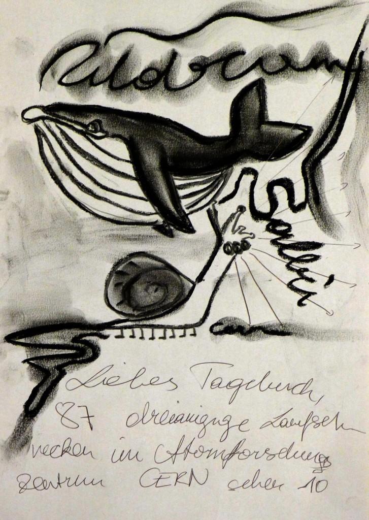 Pavels Illustration #21 - Walfisch und die dreiäugige Laufschnecke
