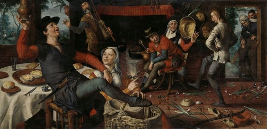 Der Eiertanz, Pieter Aertsen, 1552 (via wikimedia commons)