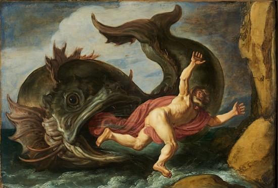 Jona und der Wal, Gemälde von Pieter Lastman, 1621 (Wikimedia Commons)