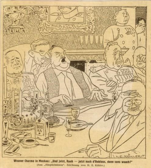 Karikatur in der Münchner Zeitschrift Simplicissimus (H.E. Köhler / bildarchivaustria.at)