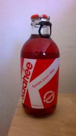 Eine Flasche Kaahée