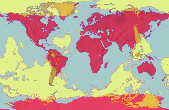 Weltkarte der Antipoden (Wikimedia Commons)