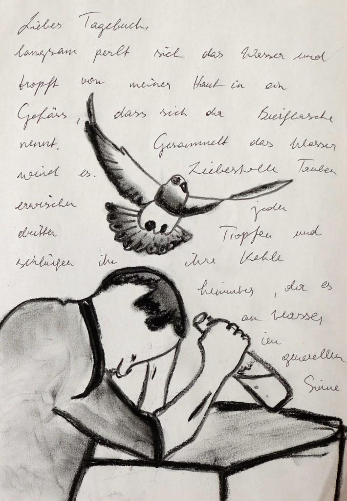 Pavels Illustration #27 - Vögel, Schweiß und Durst
