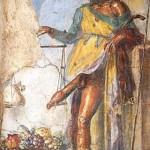 Römisches Priaposfresko in Pompeii (ca. 100 v.Chr. via theoi.com)