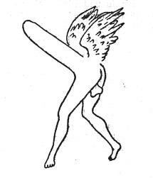 Priapos, dargestellt als Tychon, einem dämonischen Verführer (ca. 100 v.Chr.)