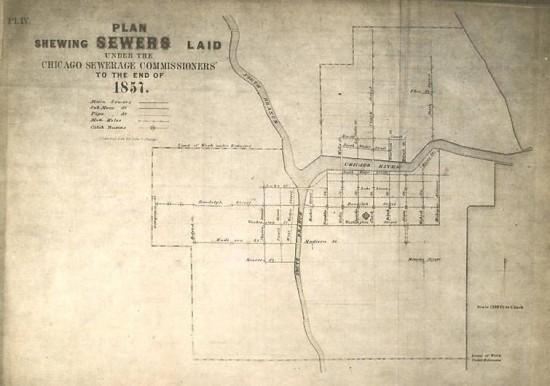 Chesbroughs Kanalplanung von 1857 (via 99pi.org)