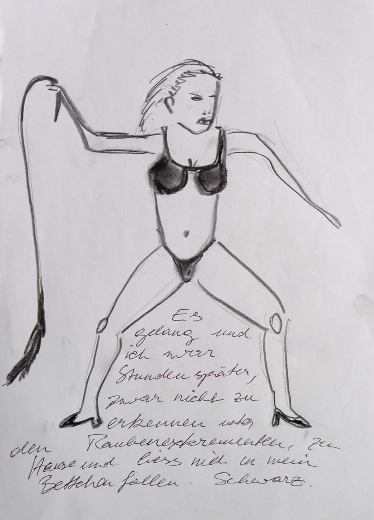 Pavels Illustration #30 - Russisches Weib mit Kuhschwanz