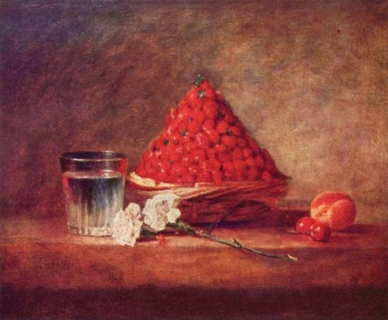 """Der Erdbeerkorb"" (1760–61) von Jean-Baptiste Siméon Chardin (via Wikimedia Commons)"