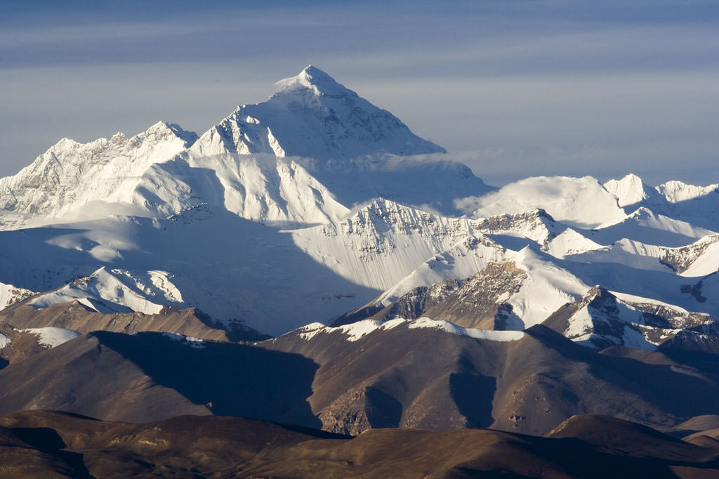 Nordseite des Mount Everest (Wikimedia Commons)