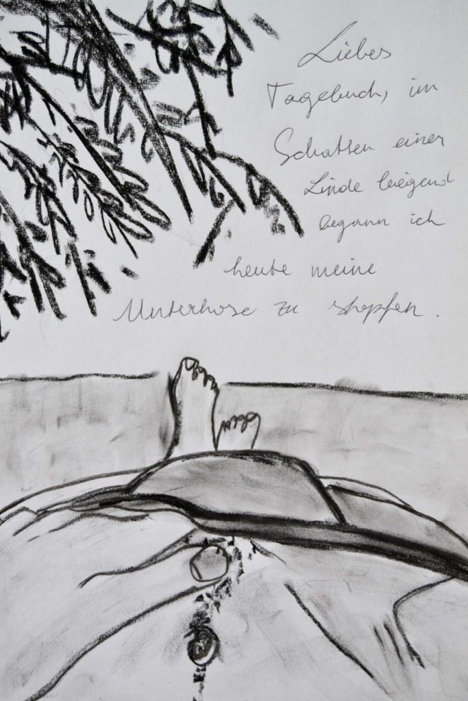 Pavels Illustration #33 - Loch in der Unterhose stopfen?