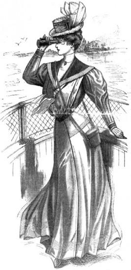 Viktorianische Frauenmode um 1905 (wikimedia commons)