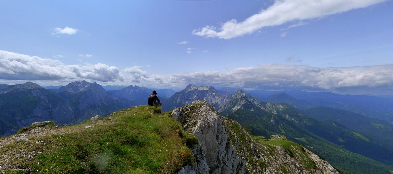 Aussicht vom Tamischbachturm