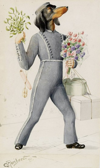 Der Gratulant (Carl Reichtert / 1907 / wikimedia commons)