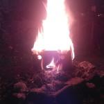 Brennendes Gesicht 03
