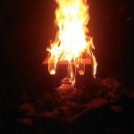 Brennendes Gesicht 07