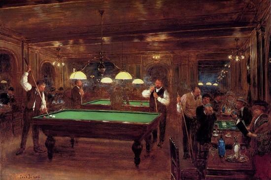 Billardspiel in Frankreich am Ende des 19. Jahrhunderts von Jean Béraud. (Wikimedia Commons)