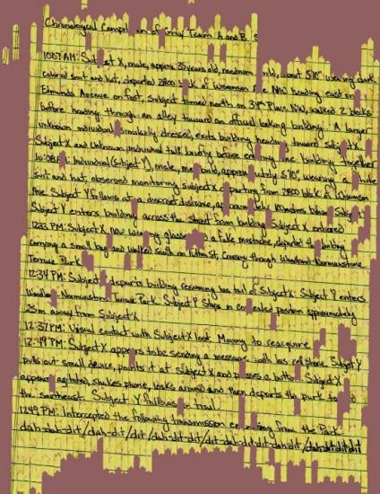 Geschreddertes und wiederhergestelles Dokument (via archive.darpa.mil/shredderchallenge/)