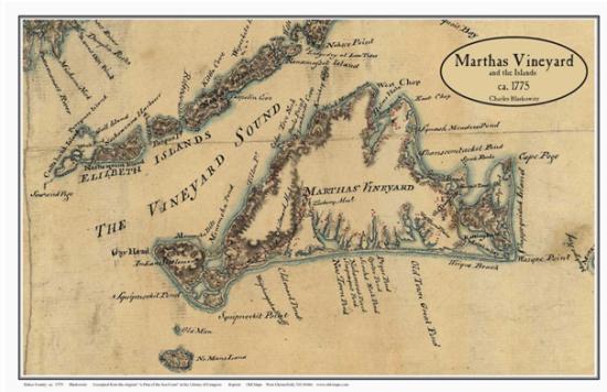 Karte von Charles Blaskowitz (1775 / Libary of Congress)