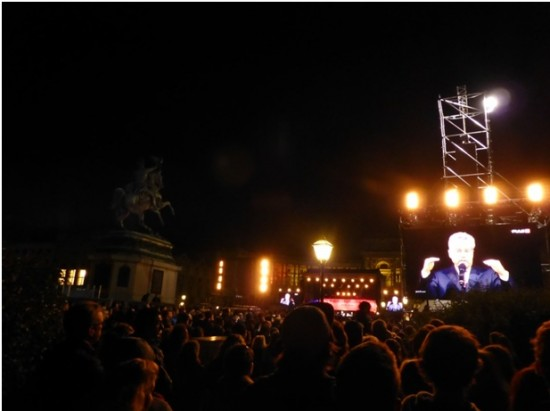 Bundespräsident Fischer während seiner Rede am Heldenplatz (Bild: anpf)