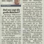 Scan aus der Neuen Kronen Zeitung vom 4. Oktober, Seite 3