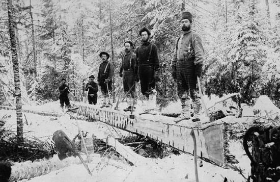 Trifter von 1895 bei der Arbeit.