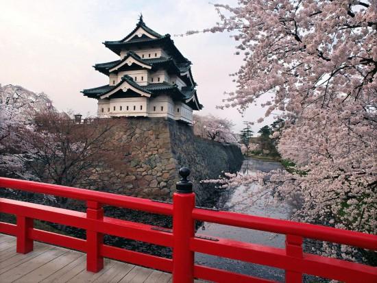 Die Burg Hirosaki (Wikimedia Commons)