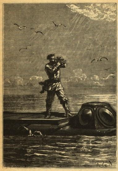 Kapitän Nemo auf seiner Nautilus (wikimedia commons)
