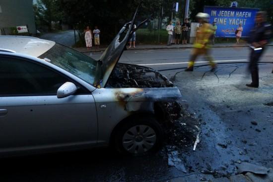 Ausgebranntes Auto in Graz