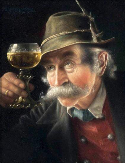 Carl Heuser: Ein Blick aufs Weinglas