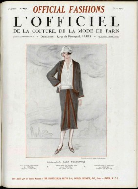 "Cover des ""L'Officiel de la Mode"", Ausgabe No 43, 1925"