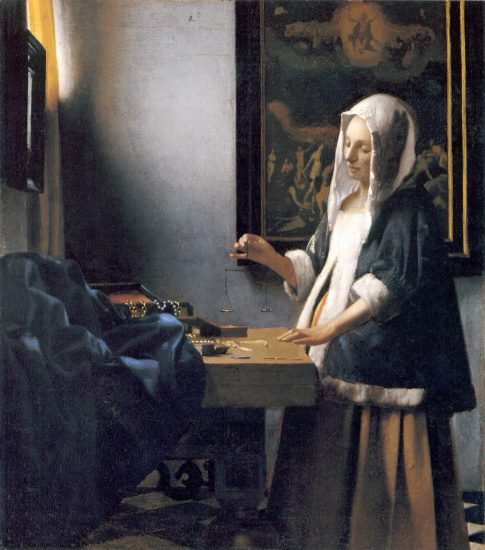 """Jan Vermeers """"Frau mit Waage"""""""