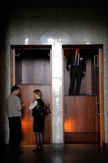 Ein Paternoster im Parlament in Helsinki (2008). © Johannes Jansson / norden.org
