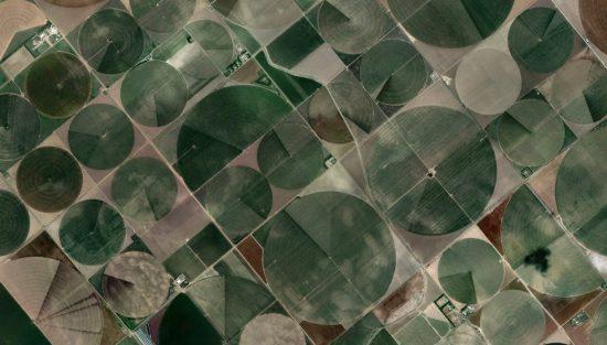 """Felder in Kansas, USA (37°47'14.62""""N 100°56'46.56""""W / via Google Earth)"""