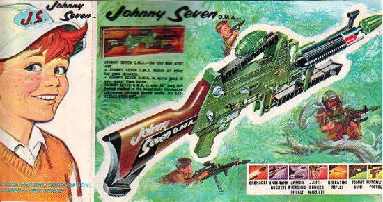 "Bild aus dem Werbekatalog: Die ""Johnny Seven O.M.A"" (wikimedia commons)"