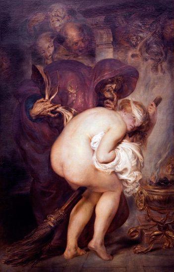 Die junge Zauberin (Antoine Joseph Wiertz / 1857 / wikimedia commons)
