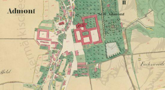 Admont (Ausschnitt aus dem Franziszeischem Kataster / Landesarchiv Steiermark)