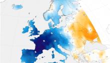Vergleich der Temperaturen 1816 zum langjährigen Mittel 1971–2000 (via Wikimedia Commons)